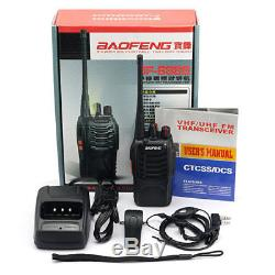 10 Baofeng BF-888S UHF Transceiver 5W Walkie Talkie Two-way Ham Radio +Earpiece