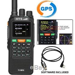 10W VHF/UHF GPS Walkie Talkie Two Way Radio VHF/UHF 999 Channels For Hunting