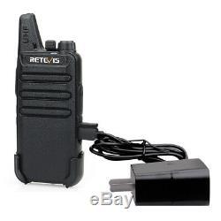 10XRetevis RT22 FRS WalkieTalkie 2W License-Free Two Way Radio UHF16CH VOX Alarm