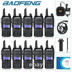10x Baofeng UV-82 Walkie Talkie 2 Band V/UHF 2800mAh Two Way Radio Transceiver