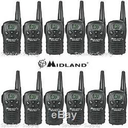 12 Pack Midland Xtra Talk LXT118 Two Way Radio Walkie Talkie 18 Mile Set 22 ch