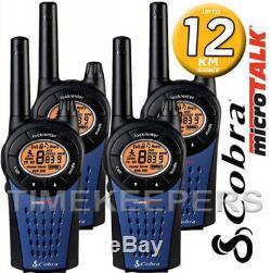 12Km COBRA MT975 Walkie Talkie 2 Two Way PMR 446 Radio Quad Pack