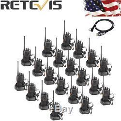 20xRetevis H777 WalkieTalkie 1000mAh UHF400-470MHz 16CH 5W VOX Two Way Radio US