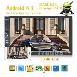 2G RAM 7'' Android 8.1 WiFi 2DIN Car Radio Stereo NON DVD Player GPS OBD2+Camera