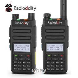 2Pcs Radioddity GD-77 Dual Band Tier2 DMR V/UHF Walkie Talkie Ham Two way Radio