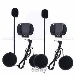2X 1200m Bluetooth Motorcycle Helmet Intercom Headset Two Way Radio Communicator