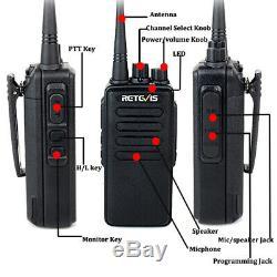 2XRetevis RT1 Walkie Talkie two-Way Radio UHF 10W 3000mAh CTCSS/DCS Scrambler US