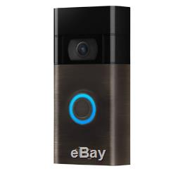 2nd Gen Video Doorbell 1080p HD video & Two-Way Talk (Ring) Venetian Bronze