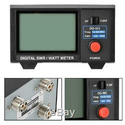3.5 Digital SWR WATT Meter for Two-Way Radios Walkie Talkie 1.6-60/125-525MHz