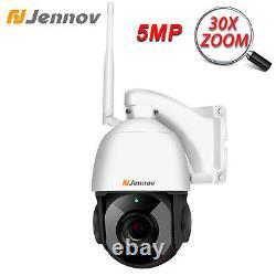 5MP HD Wireless 30X Zoom PTZ IP Camera Two-Way Audio Wifi Security Outdoor CCTV
