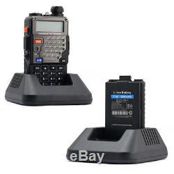 5x Baofeng UV-5R Plus 136-174/400-520MHz Max 5W FM Two-way Radio Walkie Talkie
