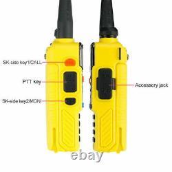 5x Baofeng UV-5R Plus Yellow 2m/70cm Band V/UHF FM Ham Amateur Two-way Radio US