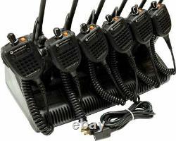 6 Motorola XTS5000 VHF P25 Digital Two Way Radio SMARTZone ADP AES H18KEF9PW6AN