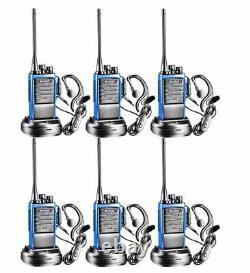 6 Set Long Range Walkie Talkie 5 Mile Two Way Radio Charge Headset Waterproof Do