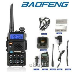 6x Baofeng UV-5R 128CH Two-Way Ham Radio 5W Dual Band Walkie Talkie Transceiver