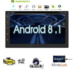 7'' Inch Double 2DIN Android Stereo Car CD DVD Player GPS Navi Touch Radio +CAM