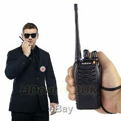 8PCS BF-888S Two Way Radio Handheld Portable 400-470MHz Walkie Talkie F-Antenna