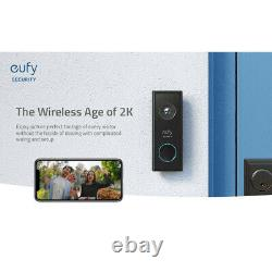 ANKER EUFY Wireless Video Doorbell 2K HD Two-Way Talk Battery Powered