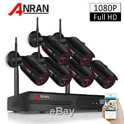 ANRAN 1080P Home Security Camera System Wireless Outdoor WIFI APP P2P Video CCTV