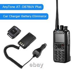 AT-D878UV Plus Dual Band DMR/Analog UHF/VHF BT PTT Two Way Radio + Car Charger