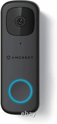 Amcrest 4MP Video Doorbell Camera 2.4 GHz WiFi Weatherproof Two-Way Audio