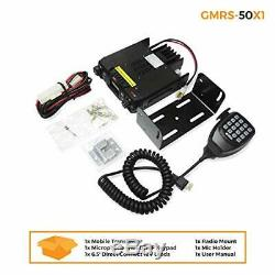 BTECH Mobile GMRS-50X1 50 Watt GMRS Two-Way Radio, GMRS Repeater Capable, with