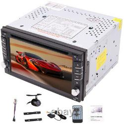 Backup Camera+GPS Navi 6.2 Double 2 Din Car Stereo Radio DVD Player Bluetooth