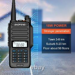 Baofeng UV-9R 18W Plus VHF UHF Walkie Talkie Dual Band Handheld Two Way Radio