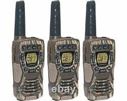 Cobra 37-Mile Waterproof Rechargeable Camo Two-Way Radio Walkie Talkie 3 Pack