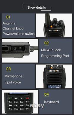 DMR Radio Retevis RT52 Dual Band GPS Walkie Talkie Digital/Analog Dual PTT 5W