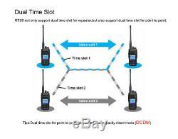 DMR Retevis RT3S UHF/VHF Walkie Talkie Digital Two Way Radio TDMA 3000CH(2pcs)