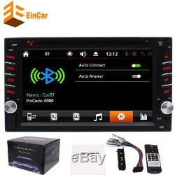 Double Din Car Stereo 7 Digital Touch Screen HD DVD Player NO GPS Radio Camera