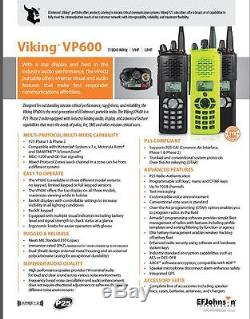 EF JOHNSON VIKING VP600 7/800Mhz P25 PHASE-II TDMA RADIO APCO-25 MOTOROLA APX