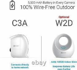 EZVIZ C3A x2 Wireless 1080p Security Camera System Two-Way Audio Night Vision