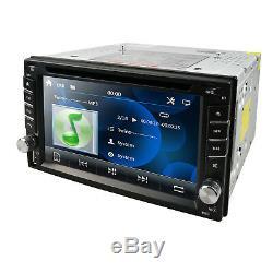 GPS Nav 6.2 Double 2Din Car DVD Player BT Ipod USB Stereo Radio Touch Screen