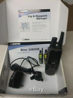 Garmin Rino 530 2-way radio & GPS bundle with holster, cd, battery, charger, etc