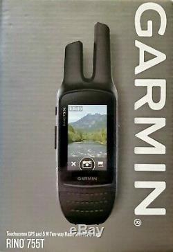 Garmin Rino 755t, Rugged Handheld 2-Way Radio/GPS Navigator BRAND NEW