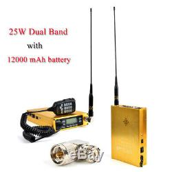 HYS 25W Dual Band 144/480MHz Two Way Radio Mobile Transceiver & Antenna Adaptor