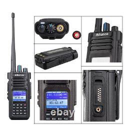 Ham Two Way Radio VHF+UHF Scanner Walkie Talkie Ailunce HD1 GPS IP67 3200mAh 10W