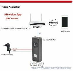 Hikvision DS-KB6403-WIP 2MP IP Camera WiFi Video Doorbell Two-Way Intercom Mobil