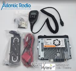 Hytera MD652i MD652i-V1 DMR VHF 136-174 MHz 25 Watt 1024 CH Mobile Two Way Radio