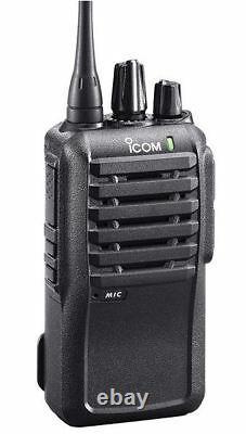 ICOM F4001 UHF 450-512 MHz 4 Watt Two Way Radio with Programming Software & Cable