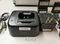 Icom IC-W32A Handheld Two-Way Dual Band Amateur Radio withCase and Many Extras