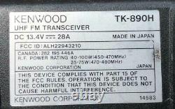 KENWOOD TK-890H VHF Mobile Rear Remote Mount HAM Radio, KRK-5, Cable Speaker Kit