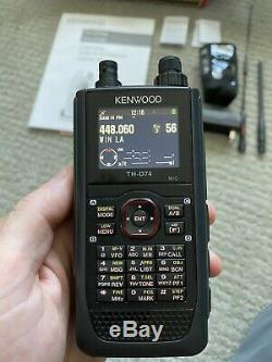 Kenwood TH-D74A Tri-band Handheld Transceiver Two Way Radio With Extras