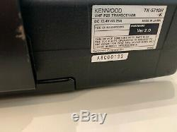 Kenwood TK-5710H-K Ver 2 110W P25 512-channel VHF Two-Way Radio withMount Plate