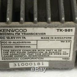Kenwood TK-981 UHF FM Transceiver Mobile Radio Tested, As Pictured