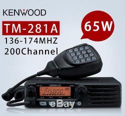 Kenwood TM-281A VHF 136-174MHz 65 Watt Field Programmable Mobile Two Way Radio