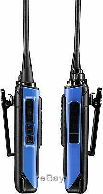 Long Range Walkie Talkie 4 Set Two Way Radio Charger Battery Headset Waterproof