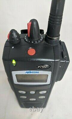 M/A-Com Harris P7100 VHF 136-174 P25 Digital Radio With Encryption AES & DES